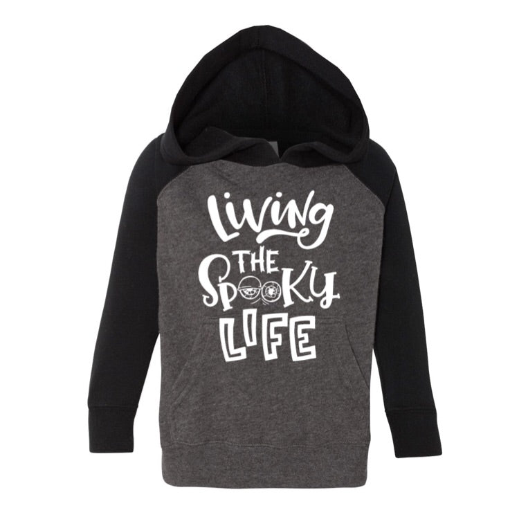 Living The Spooky Life - Kids Hoodie-Little Hooligans Co.