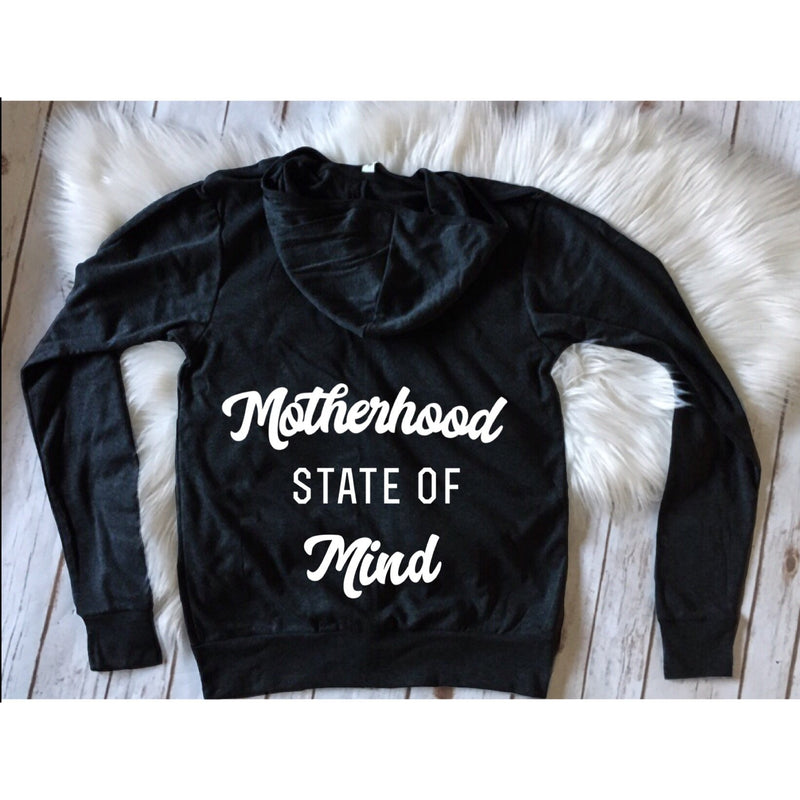 Motherhood State Of Mind - Unisex Zip Hoodie-Little Hooligans Co.