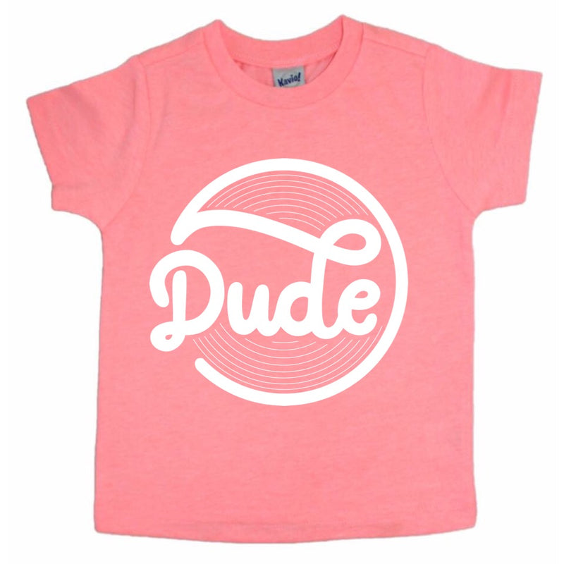 Dude - Flamingo Kids Tee-Little Hooligans Co.