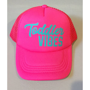 All Pink + Teal - Toddler Vibes Snapback-Little Hooligans Co.