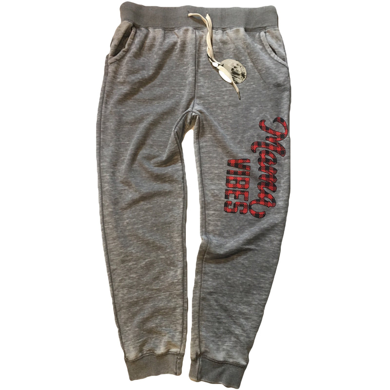 Mama Vibes - Plaid Joggers - Little Hooligans Co.