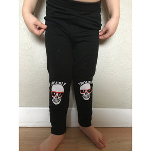 Trouble - Black Legging-Little Hooligans Co.