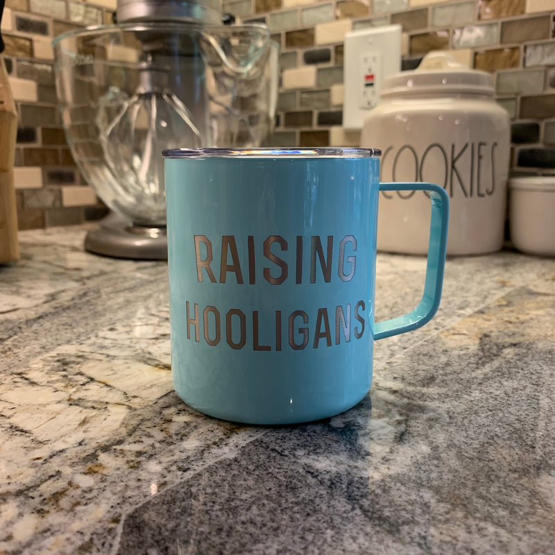 Raising Hooligans - Sea Foam Stainless 12oz Mug-Little Hooligans Co.