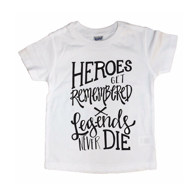 Heroes Get Remembered - Kids Tee-Little Hooligans Co.