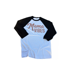 Mama Vibes Raglan - Rose Gold-Little Hooligans Co.