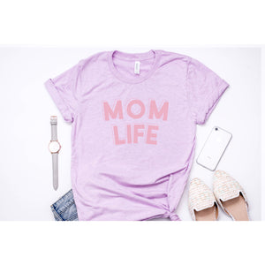 Mom Life - Prism Lilac Unisex Tee - Little Hooligans Co.