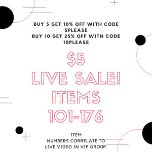 Live Video Sale 2-Little Hooligans Co.