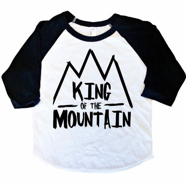 King of the Mountian - Kids Raglan-Little Hooligans Co.