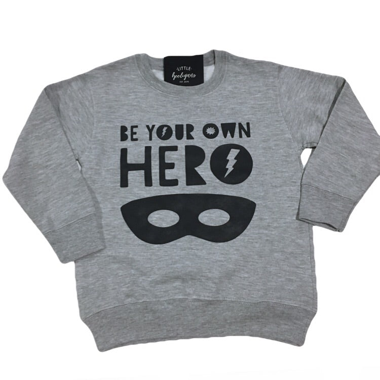 Be Your Own Hero - Kids Fleece Pullover-Little Hooligans Co.