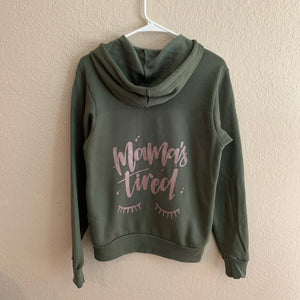 Mama's Tired - Unisex Army Zip Up-Little Hooligans Co.