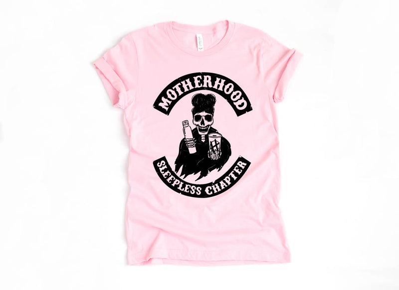 Sleepless Chapter - Unisex Pink Tee-Little Hooligans Co.