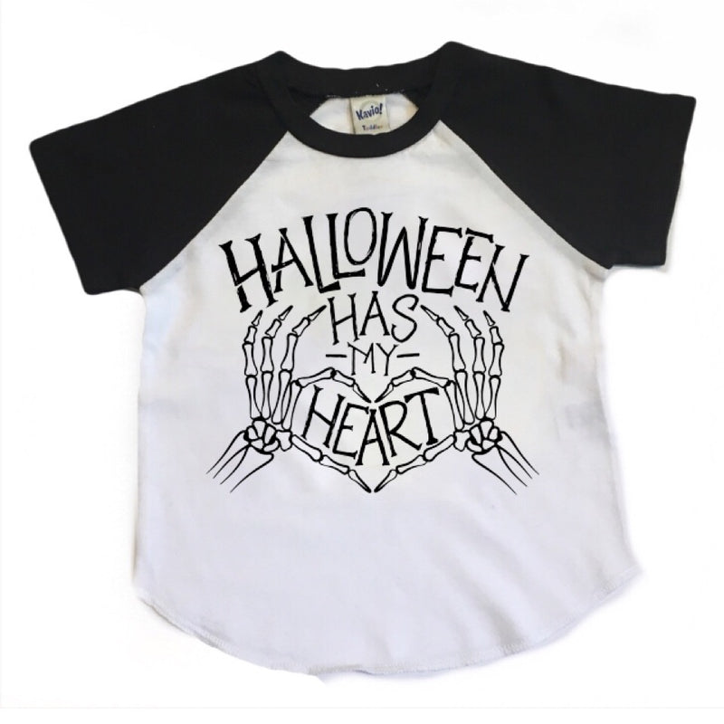 Halloween Has My Heart - Kids Short Sleeve Raglan-Little Hooligans Co.