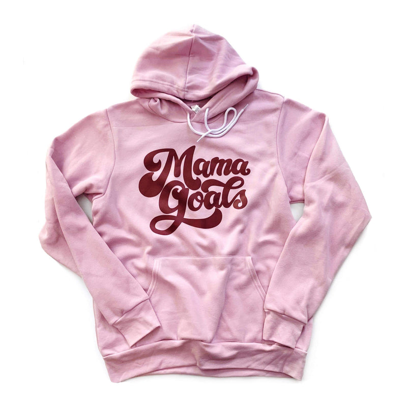 Mama Goals - Unisex Lilac Fleece Hoodie-Little Hooligans Co.