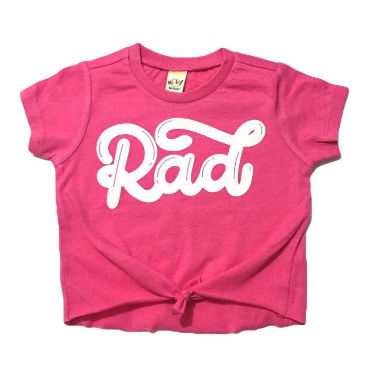 RAD - Hot Pink Tied Top - Little Hooligans Co.