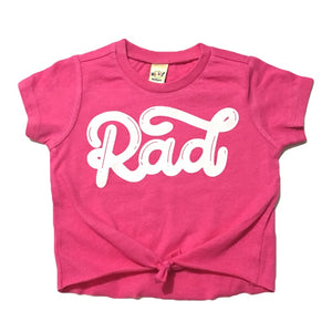 RAD - Hot Pink Tied Top-Little Hooligans Co.