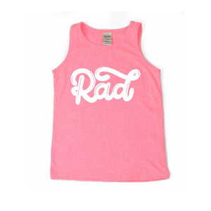 Rad - Pink Kids Tank-Little Hooligans Co.