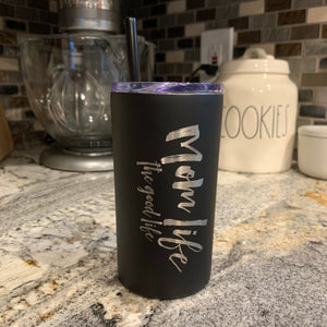 The Good Life - Black Stainless 12oz Mug-Little Hooligans Co.