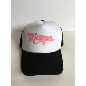 Mama - Pink + Black/White Snapback-Little Hooligans Co.