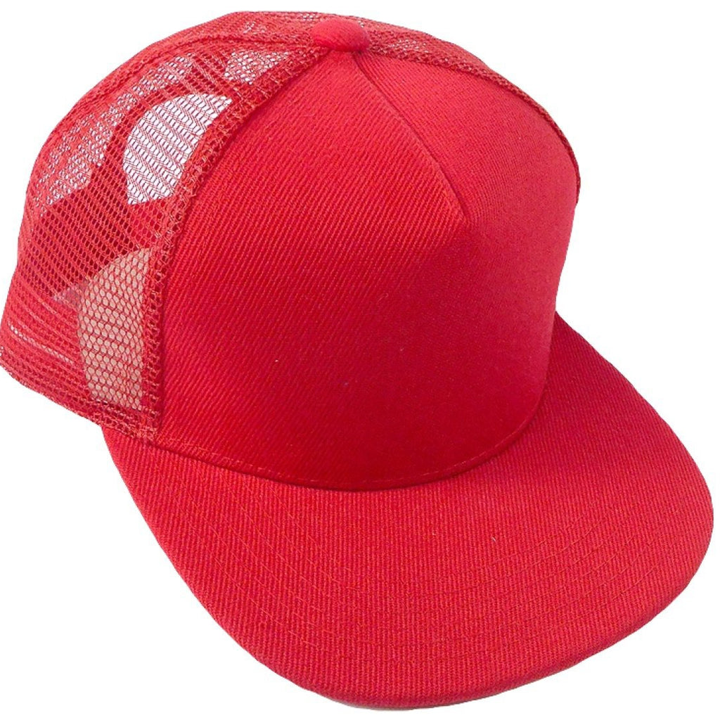 Red Meshback Snapback - Kids-Little Hooligans Co.