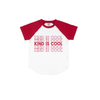 Kind Is Cool - Red Short Sleeve Raglan-Little Hooligans Co.