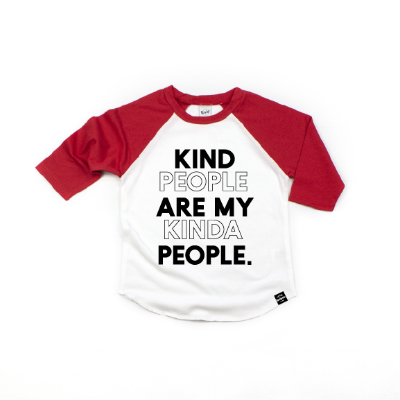 My Kinda People - Kids Raglan-Little Hooligans Co.