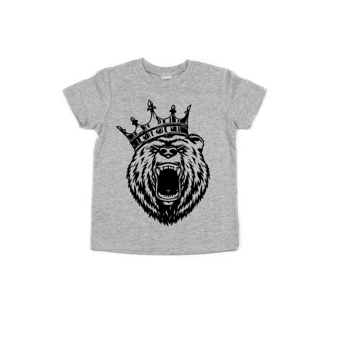 King Bear - Light Grey-Little Hooligans Co.