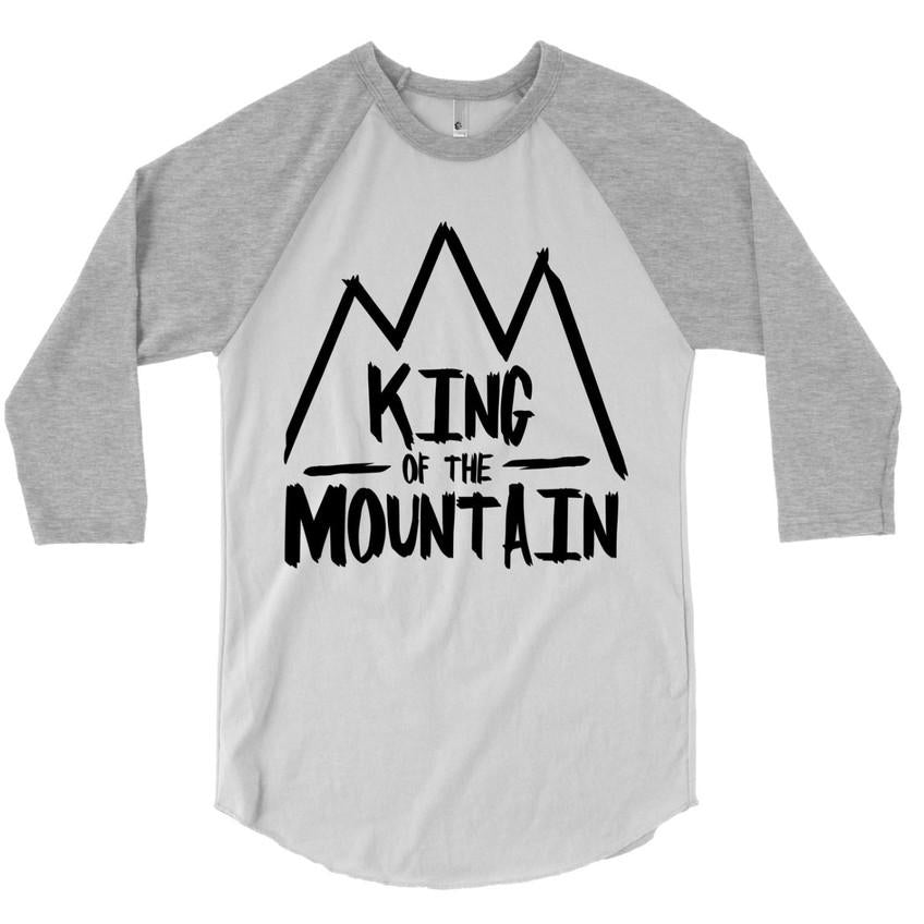 King of the Mountain - Adult Raglan-Little Hooligans Co.