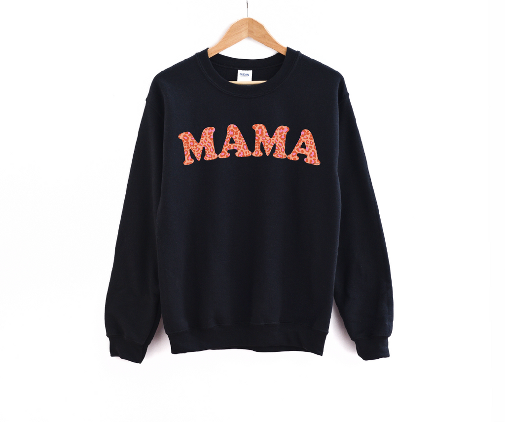 Mama (Fall Leopard) - Fleece Pullover-Little Hooligans Co.