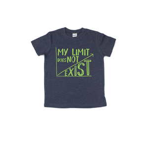 My Limit Does Not Exist - Navy + Lime Tee-Little Hooligans Co.