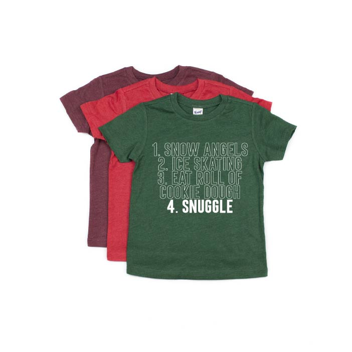 Christmas To-Do List - Kids Tee-Little Hooligans Co.
