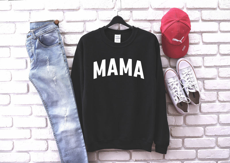 Mama - Unisex Black Pullover-Little Hooligans Co.