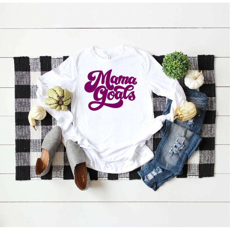 Mama Goals - Unisex Long Sleeve-Little Hooligans Co.