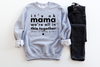 It's Ok Mama - Unisex Grey Pullover-Little Hooligans Co.