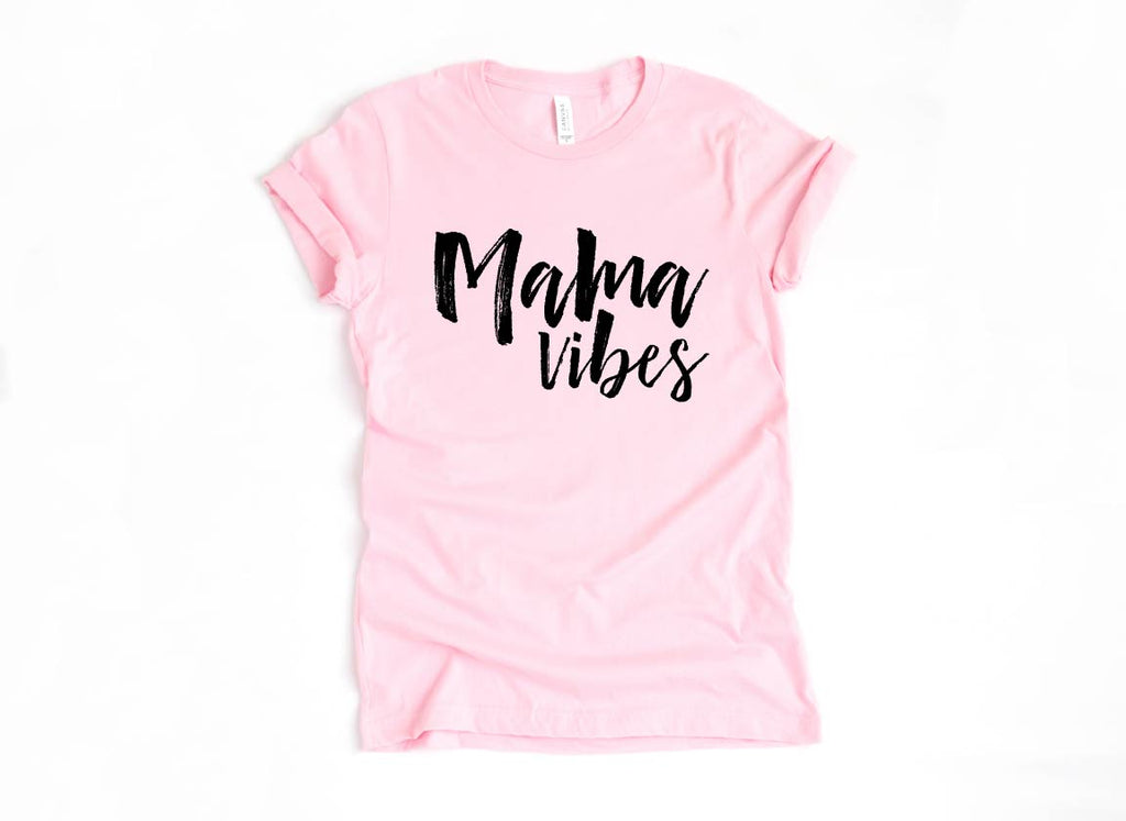 Mama Vibes - Unisex Pink + White - Little Hooligans Co.