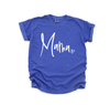 Mama - Unisex Neon Blue Tee-Little Hooligans Co.