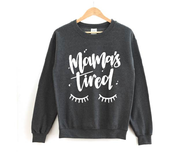 Mama's Tired - Unisex Charcoal Pullover-Little Hooligans Co.