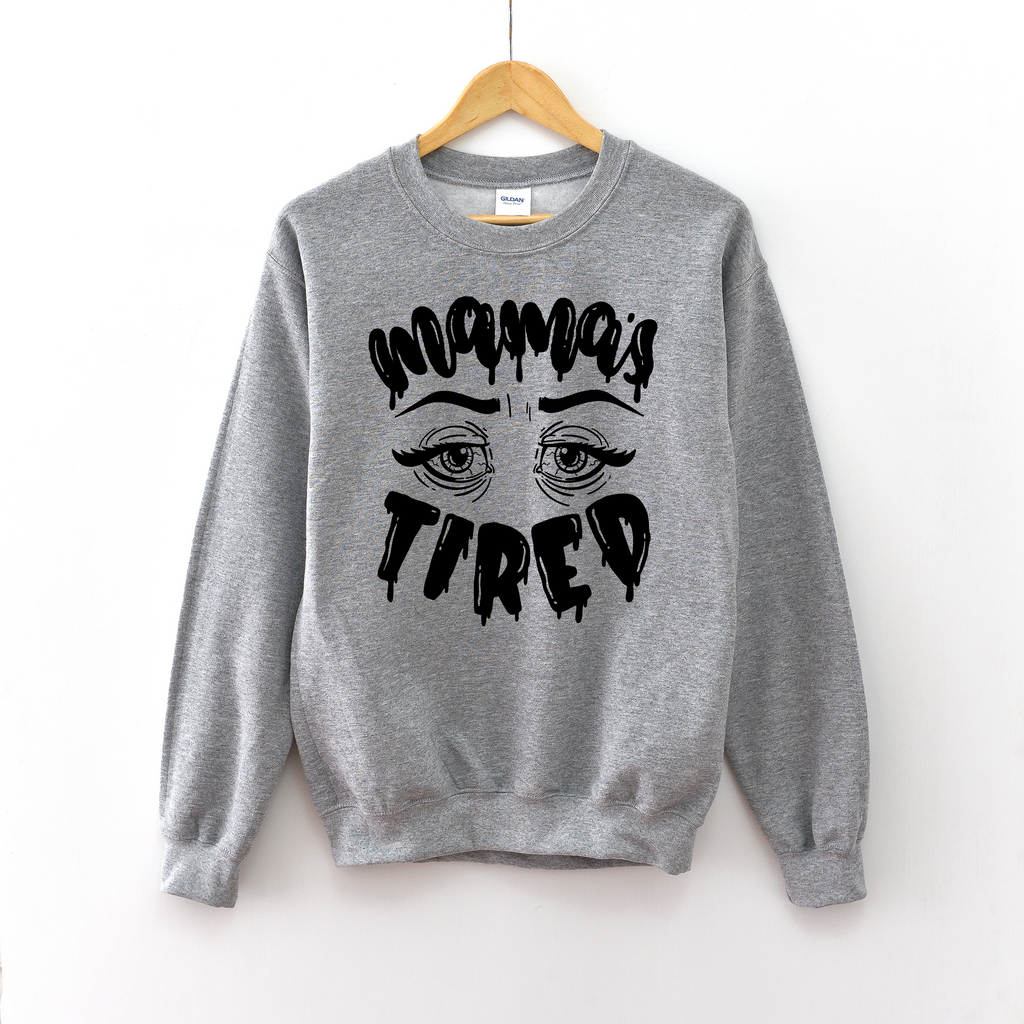 Mama's Tired (Halloween) - Grey Pullover-Little Hooligans Co.