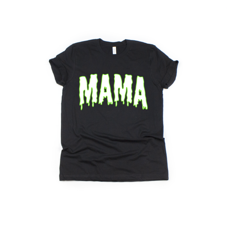 Mama (Slime) - Unisex Black Tee-Little Hooligans Co.