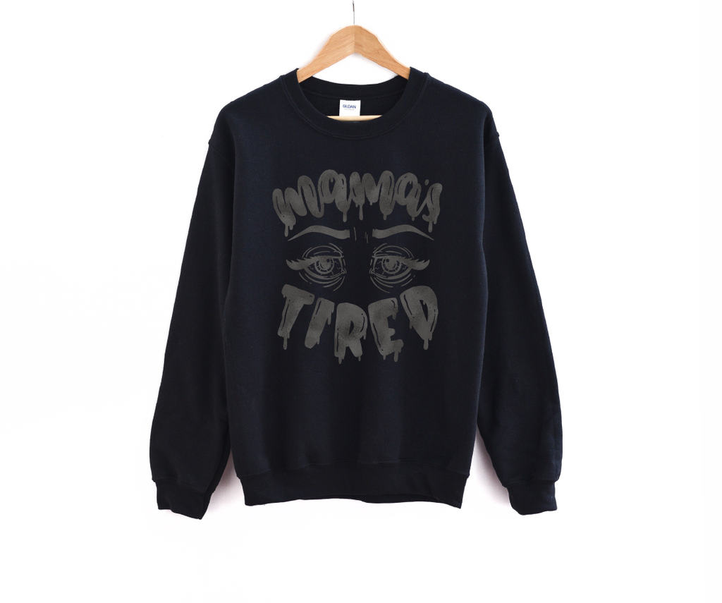 Mama's Tired (Halloween) - Unisex Fleece Pullover-Little Hooligans Co.