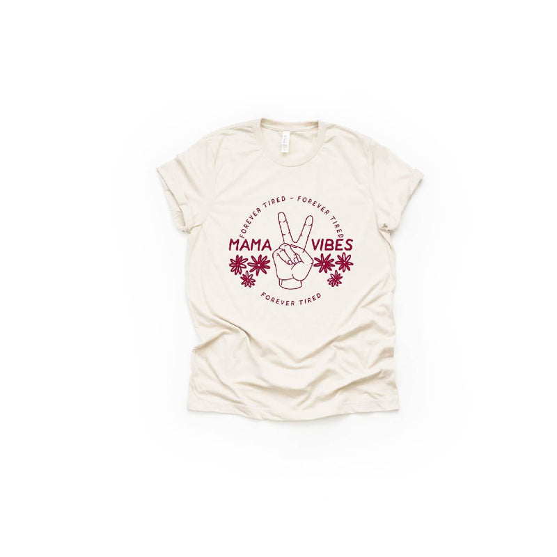Mama Vibes (Flower) - Unisex Tee-Little Hooligans Co.