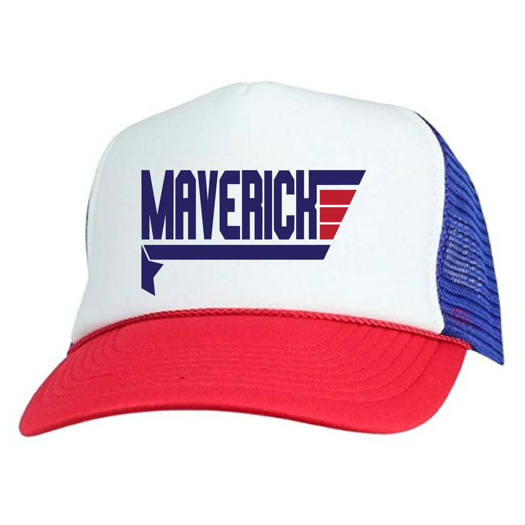 Red + Blue - Maverick Snapback (kids)-Little Hooligans Co.