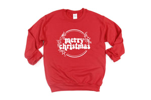 Merry Christmas - Unisex Red Pullover-Little Hooligans Co.