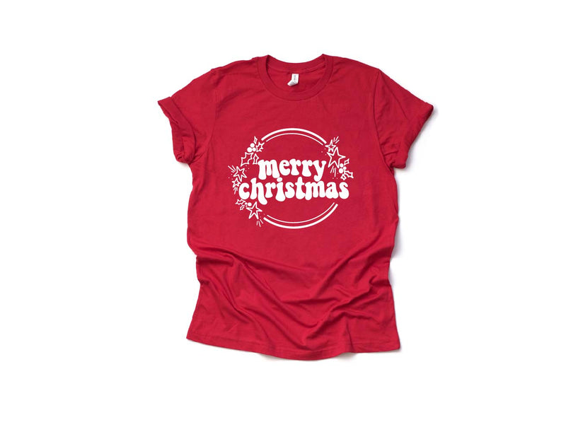 Merry Christmas - Unisex Red Crewneck-Little Hooligans Co.