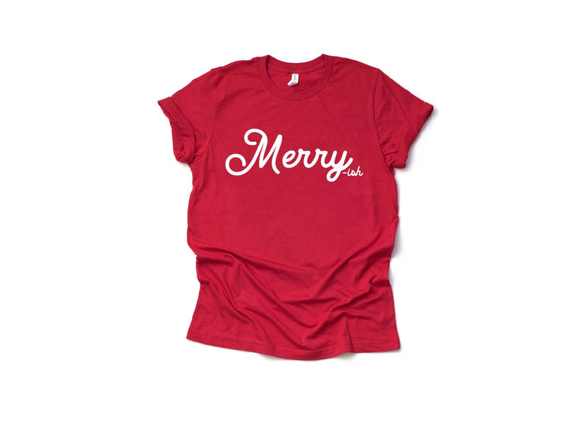 Merry-ish - Unisex Red Crewneck-Little Hooligans Co.