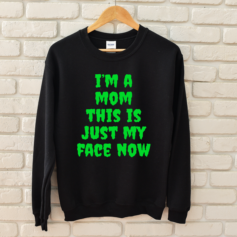 This Is My Face Now (Halloween) - Black Pullover-Little Hooligans Co.