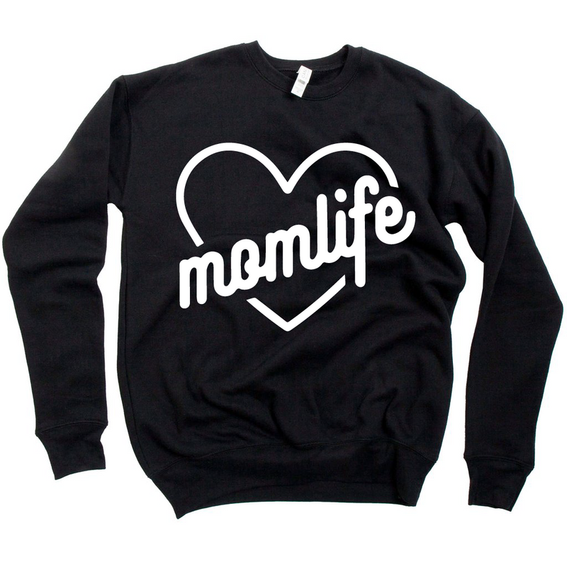 Momlife {Heart} - Unisex Fleece Pullover {multiple colors}-Little Hooligans Co.