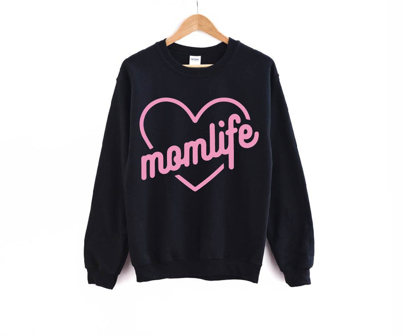 Mom Life (Pink Heart) - Unisex Pullover-Little Hooligans Co.