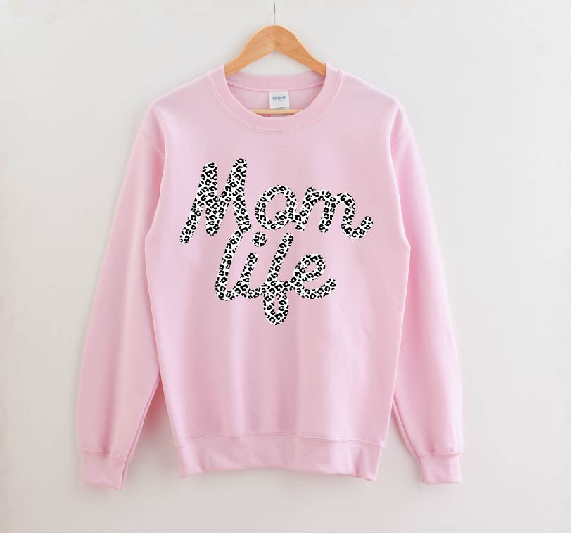 Mom Life (Snow Leopard) - Unisex Pullover-Little Hooligans Co.