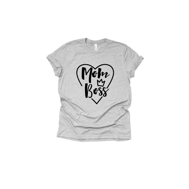 Mom Boss - Unisex Tee-Little Hooligans Co.