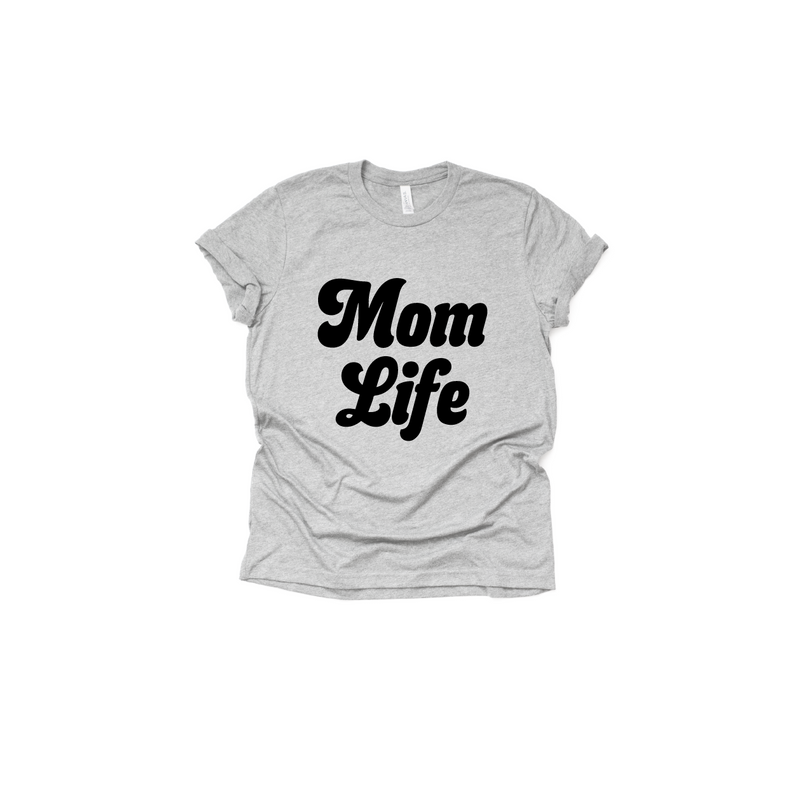 Mom Life (Retro) - Unisex Tee-Little Hooligans Co.